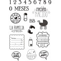 """RECIEN NACIDO"" STAMP CLEAR A5 ARTIS DECOR"
