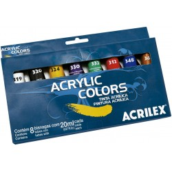 SURTIDO 8 COLORES ACRYLIC COLORS ACRILEX 20ML.