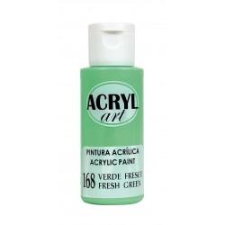 PINTURA ACRÍLICA ACRYL-ART 60ML. N168 VERDE FRESCO