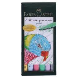 "SET 6 ROTULADORES PITT ARTIST ""PASTEL"" FABER-CASTELL"