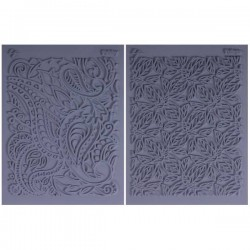 "SET 2 PLACAS FLEXIBLES TEXTURA L.PAVELKA ""FLOW"""