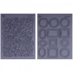 "SET 2 PLACAS FLEXIBLES TEXTURA L.PAVELKA ""ARTFUL"""