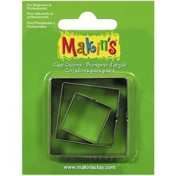 MAKIN'S SET 3 CORTADORES CUADRADOS