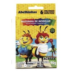 PLASTILINA ACRILEX 6 COLORES SURTIDOS 15GR. ( 90GR.)
