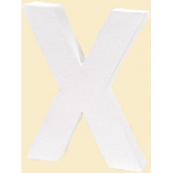 """LETRA """"X"""" BLANCA DECOPATCH 12X10CM"""