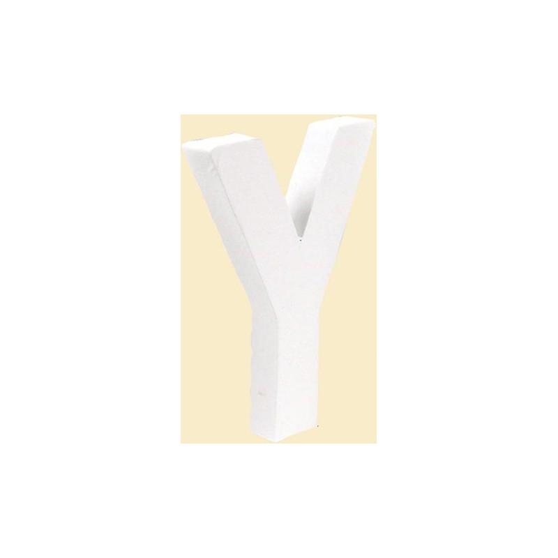 """LETRA """"Y"""" BLANCA DECOPATCH 12X10CM"""