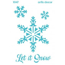 PLANTILLA STENCIL 20x28'5cm LET IT SNOW
