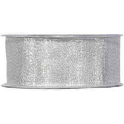 CINTA GLAM 38MM.X20MT. PLATA (3248M 40)