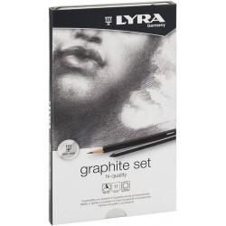 LYRA REMBRANDT SET GRAFITO (Est. metal 11 pzas.)