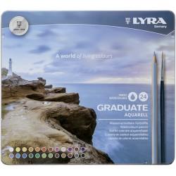 LYRA GRADUATE AQUARELL (Est. metal 24 colores+pincel)