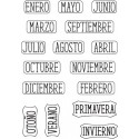 """MESES Y ESTACIONES"" STAMP CLEAR A6 ARTIS DECOR"