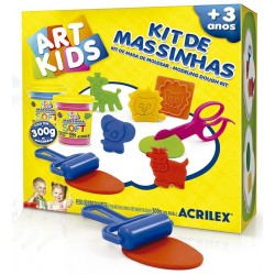 ART KIDS KIT DE PLASTILINA ACRILEX Nº 7  300GR. (40007)