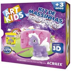 """ART KIDS KIT DE PLASTILINA ACRILEX """"Baby pony lila"""" (40044)"""