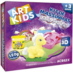 "ART KIDS KIT DE PLASTILINA ACRILEX ""Baby pony amarillo"" (40045)"