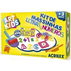 "ART KIDS KIT DE PLASTILINA ACRILEX ""Numeros y letras"" (40046)"