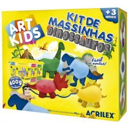 "ART KIDS KIT DE PLASTILINA ACRILEX ""Dinosaurios 600gr."" (40048)"