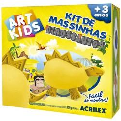 "ART KIDS KIT DE PLASTILINA ACRILEX ""Dinosaurio amarillo"" (40051)"
