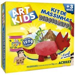 """ART KIDS KIT DE PLASTILINA ACRILEX """"Dinosaurio rojo"""" (40052)"""
