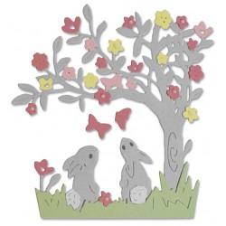 "SIZZIX CORTADOR SET 3 pzas.""Bunny Scene by Olivia Rose"""