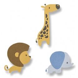 "SIZZIX CORTADOR SET 9 pzas.""Baby jungle animals by Jordan Caderao"""