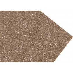 GOMA EVA SUPER GLITTER 60X40 2MM ORO BLANCO