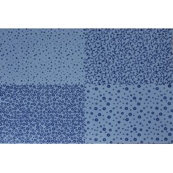 GOMA EVA FLOCKING DESIGN Nº1 60X40 2MM AZUL CLARO-AZUL OSCURO