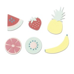 "SIZZIX CORTADOR SET 16 pzas.""Summer Fruit by Jordan Caderao"""