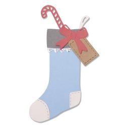 "SIZZIX CORTADOR SET 7 pzas.""Christmas Stocking by Sophie Guila"""