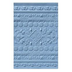 "SIZZIX CARPETA EMBOSSING ""Folk Art Pattern by Courtney Chilson"""