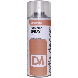 BARNIZ SPRAY MATE ARTIS-DECOR 400ML.