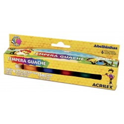 SURTIDO 6 COLORES TEMPERA GUACHE ACRILEX 15ML. HANG  (02006)