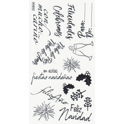 "SIZZIX CLEAR STAMP ""Frases Festivas By Luisa E. Guillen-K"""
