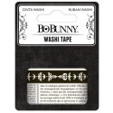 BLACK & WHITE WASHI TAPE BOBUNNY