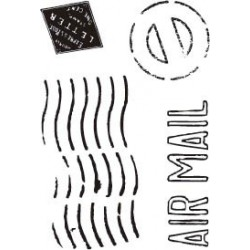 """STAMP CLEAR A7 ARTIS DECOR """"AIR MAIL"""""""
