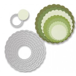 "SIZZIX MULTICORTADOR SET 8 pzas ""Circles, Scallop"""