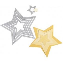 "SIZZIX MULTICORTADOR SET 5 pzas ""Stars"""