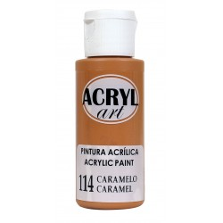 PINTURA ACRÍLICA ACRYL-ART 60ML. N114 CARAMELO