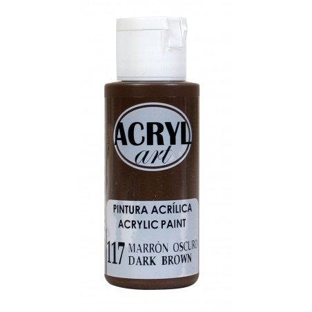 PINTURA ACRÍLICA ACRYL-ART 60ML. N117 MARRON OSC.