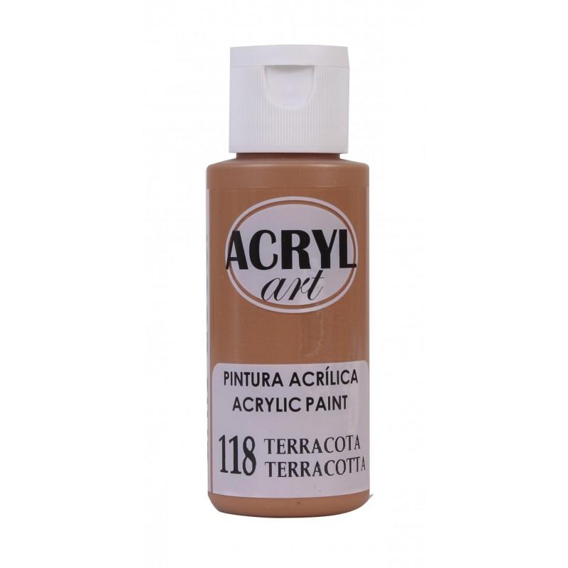 PINTURA ACRÍLICA ACRYL-ART 60ML. N118 TERRACOTA