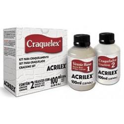 KIT CRAQUELEX PASO-1+PASO-2 ACRILEX 100ML. C/U