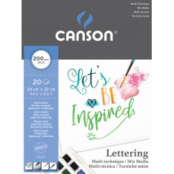BLOC LETTERING MIX MEDIA SATIN (20HJ) 200GR.CANSON