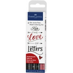 SET 4 ROTULADORES PITT HAND LETTERING