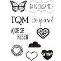 """QUE SE BESEN"" STAMP CLEAR A6 ARTIS DECOR"