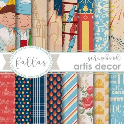 "BLOC PAPEL SCRAP 6X6"" ARTIS DECOR FALLAS"