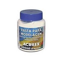 PASTA MODELAGEM (EMULSIÓN DE POLIMERO ACRILICO) ACRILEX 250ML.