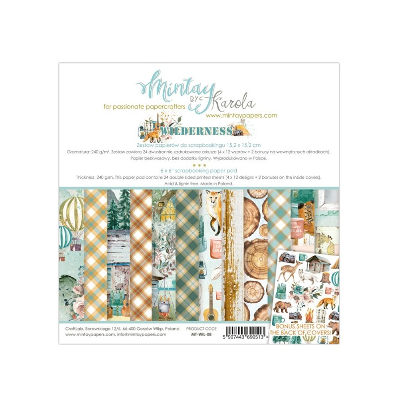 MINTAY BY KAROLA SET PAPEL 6x6'' - WILDERNESS MT-WIL-08