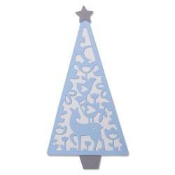 "SIZZIX CORTADOR SET 4 pzas.""Folk Christmas Tree by Lisa Jones"""