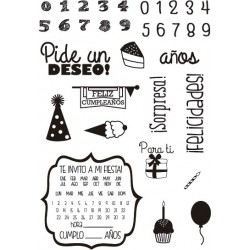 """PIDE UN DESEO"" STAMP CLEAR..."