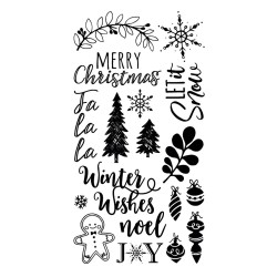 "SIZZIX CLEAR STAMP ""Winter Phrases by Katelyn Lizardi"""