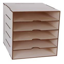 ESTANTERIA 5 HUECOS PARA PAPEL SCRAP 33X37X33CM PARA MUEBLE IKEA